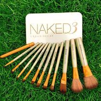 Kit 12 Pincel Estojo Profissional Maquiagem Naked -