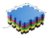 Kit 12 Placas Tapete Eva Tatame Infantil Bebe 50x50 - 20mm Colorido - Biatex