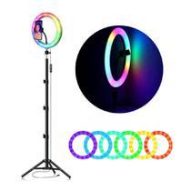 Kit 12 Polegada Colorido Ringlight Rgb Led Anel Luz 30 CM - Top Total