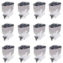 Kit 12 Porta Mantimento Dispenser Prático Cereais Parede - Cobrirel