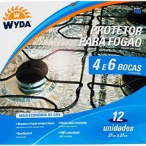 Kit 12 Protetor de Fogão Alumínio para 4 e 6 Bocas - Wyda -