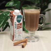 Kit 12 Shake Natural Whey Chocolate Verde Campo Zero Lactose Zero Açúcar 100% Natural 250 ml -