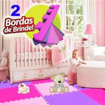 Kit 12 Tatame Tapete Eva Criança  Bebe Infantil 50 X 50cm Meninas - Yupitoys Max