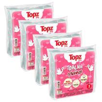 Kit 12 toalha fralda de pano estampada feminina topz baby cremer -