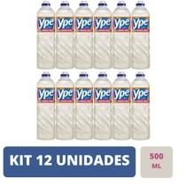 Kit 12 Unidades Detergente Ype Líquido Coco 500ml -