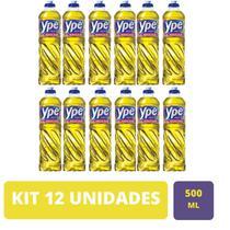 Kit 12 Unidades Detergente Ype Líquido Neutro 500ml -