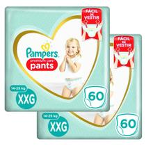 Kit 120 Fraldas Pampers Premium Care Pants Top Tamanho XXG -