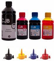 Kit 1250ml de Tintas Compatível para Impressoras Epson L120 L365 L380 L395 L495 L555 L575 - Colour Jet Brasil
