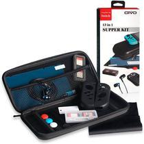 Kit 13 Em 1 Com Acessórios Diversos e Estojo De Transporte Para Nintendo Switch OIVO IV-SWT01 -