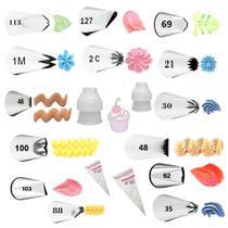 Kit 14 Bicos De Confeitar Wilton + Adaptadores + Sacos Nfe -