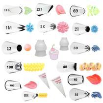 Kit 14 Bicos De Confeitar Wilton + Adaptadores + Sacos -