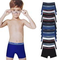 Kit 14 Cuecas Boxer Infantil Algodão 141 Lupo -