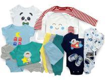 Kit 14 Pçs Body Macacão Calça Bebê Recém Nascido Meninos - Baby Bird