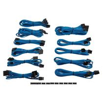 Kit 15 Cabos Para Fonte Corsair CP-8920154 Sleeved Azul -