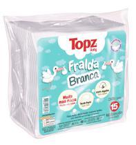 Kit 15 fralda de pano branca topz baby cremer -