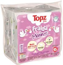 Kit 15 fralda de pano estampada feminina topz baby cremer -
