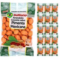 Kit 15 Pacotes Amendoim Crocante Sabor Pimenta Mexicana 50 gramas - Amendoim dumario