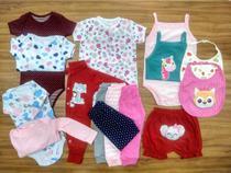 Kit 15 Pçs Body Macacão Calça Bebê Recém Nascido Meninas - Baby Bird