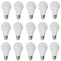 Kit 15 PeÇas - Lampada Led Bulbo PlÁstico 5w Bivolt Branco Frio 6500k - Powerxl