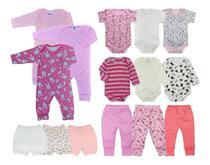 Kit 15 Peças Roupa De Bebê Body e Mijão e Macacão - Menina - Koala Baby