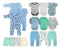 Kit 15 Peças Roupa De Bebê Body e Mijão e Macacão - Menino - Koala Baby