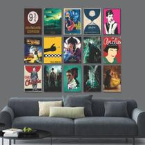 Kit 15 Placas Decorativas Filmes e Séries - Arte Quadro