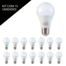 Kit 15 unid lâmpada led bulbo 9w 6500k bda6-0800-02 - black - Black+decker