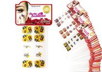 Kit 150 Cartelas Películas de Gel para Unhas Mistérios, Arte Sedução -