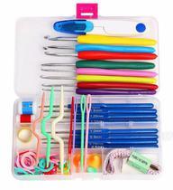 Kit 16 agulhas de croche e Acessorios e Estojo - Lanmax