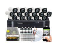 Kit 16 Cameras Segurança Full Hd Dvr Intelbras 1116 - Sem Hd -