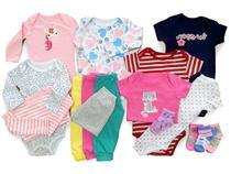 Kit 16 Pçs Body Macacão Calça Bebê Recém Nascido Meninas - Baby Bird