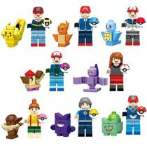 Kit 16 Pokemon Lego Ash Squirtle Detetive Pikachu Charmander - Lego compativel