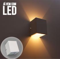 Kit 18 Arandela 2 fachos branca + 18 lâmpadas led g9 5w 3000k P/ parede muro externa e interna st678 - STARLUMEN