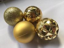 Kit 18 Bolas de Natal Grandes Dourado 6 cm Holiday Time - Christmas