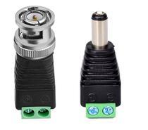 Kit 18 Conector Adaptador (12 Bnc Macho + 6 P4 Macho) P/ Cabo Cftv Câmera Plug Borne - MXT
