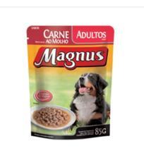 Kit 18 - Magnus Sachê Premium Cães Adultos Carne 85g - Agropet Nutrimed
