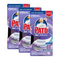 Kit 18 Refil Detergente Sanitário Pato Gel Adesivo Lavanda 38g -