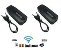 kit 2 Adaptador Receptor Bluetooth Usb Para Caixa De Som Doméstico Pc Notbook Carro Automotivo - Dongle