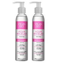 Kit 2 Água Micelar Ácido Hialurônico Limpeza Facial 5 Em 1 200ml - Vegan Lizz