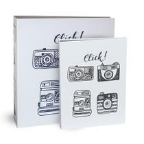 Kit 2 Álbuns Autocolante Photolovers Click Ical -