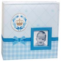 Kit 2 Álbuns Bebê Tecido 200 Fotos 10x15 Ical Principe -