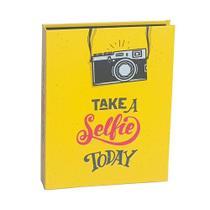 Kit 2 Álbuns Criativa Fl Preta 160 Fotos Take Selfie - Ical