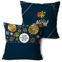 Kit 2 Almofadas De Natal Feliz Natal - Love Decor