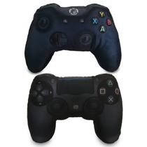 Kit 2 Almofadas Gamer Inspiradas nos Controle de Video Game PS4  Xbox One Pretos - Camaletu design