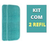 Kit 2 Almofadas Refil Microfibra Vassoura Mop Spray Esfregão Boni -
