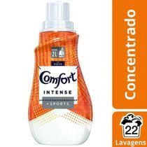 Kit 2 Amaciantes Comfort Concentrado Roupas Esportivas Intense 500ml -