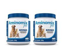 Kit 2 Aminomix Pet 500g Vetnil Suplemento -