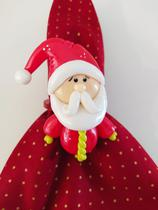 Kit 2 Anéis de Guardanapo Biscuit Papai Noel - Me Decora Casa