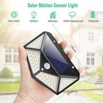 Kit 2 Arandelas Iluminária Energia Solar 100 Led Luz Branca - Top Total