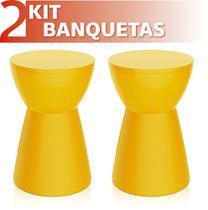 Kit 2 Bancos Sili colorida amarelo - IM In